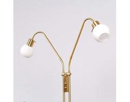 Dwupunktowa lampa stojąca LED ELAINA, mosiężna