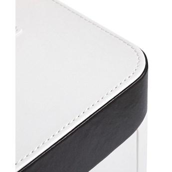 Biała drewniana szkatułka z 4 szufladami Songmics