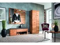 Lustro wąskie w dębowej ramie Orio Soolido Meble Ścienne Pomieszczenie Garderoba