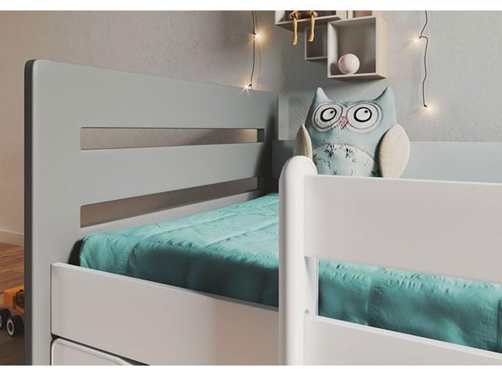 Łóżko dziecięce z barierką Candy 2X mix 80x180 - szare Płyta MDF Płyta meblowa Drewno Metal Rozmiar materaca 80x180 cm