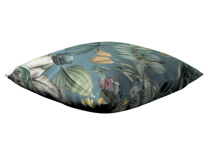 Poszewka Kinga na poduszkę, kwiaty na zielono-niebieskim tle, 43 × 43 cm, Abigail 40x60 cm 60x60 cm Bawełna Poszewka dekoracyjna 43x43 cm 45x65 cm Wzór Roślinny 50x50 cm Kwadratowe 45x45 cm Wzór Z nadrukiem