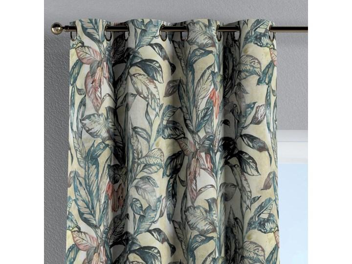 Zasłona na kółkach 1 szt., liście w odcieniach zieleni, niebieskiego, czerwieni na beżowym tle, 1szt 130 × 260 cm, Abigail Bawełna Zasłona zaciemniająca 130x260 cm Kategoria Zasłony