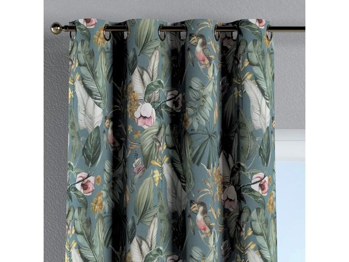 Zasłona na kółkach 1 szt., kwiaty na zielono-niebieskim tle, 1szt 130 × 260 cm, Abigail 130x260 cm Zasłona zaciemniająca Bawełna Kategoria Zasłony