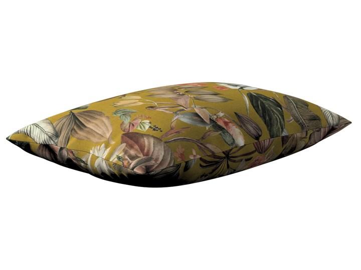 Poszewka Kinga na poduszkę prostokątną, kwiaty na musztardowym tle, 60 × 40 cm, Abigail Prostokątne 40x60 cm Bawełna Poszewka dekoracyjna 45x65 cm Wzór Z nadrukiem