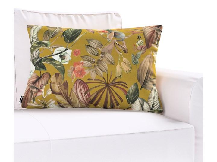 Poszewka Kinga na poduszkę prostokątną, kwiaty na musztardowym tle, 60 × 40 cm, Abigail Poszewka dekoracyjna 45x65 cm 40x60 cm Prostokątne Bawełna Pomieszczenie Salon