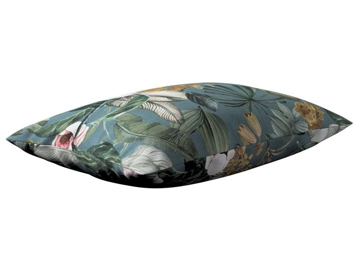 Poszewka Kinga na poduszkę prostokątną, kwiaty na zielono-niebieskim tle, 60 × 40 cm, Abigail 45x65 cm Bawełna 40x60 cm Poszewka dekoracyjna Wzór Roślinny Prostokątne Wzór Z nadrukiem