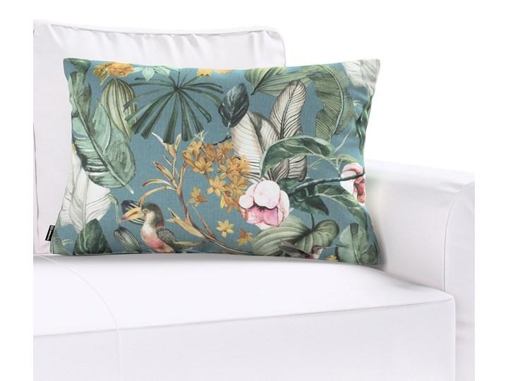 Poszewka Kinga na poduszkę prostokątną, kwiaty na zielono-niebieskim tle, 60 × 40 cm, Abigail 45x65 cm 40x60 cm Bawełna Poszewka dekoracyjna Prostokątne Wzór Z nadrukiem