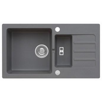 Zlewozmywak Granitowy MALIBU 80 Szary metalik (50)