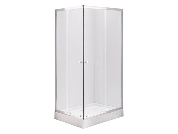 Kabina prysznicowa Durasan Era 100 x 80 cm niski brodzik chrom/transparentna