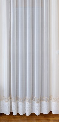 Firanka Kornelia haftowana 43943 / wysokość 270cm / kremowo-złoty