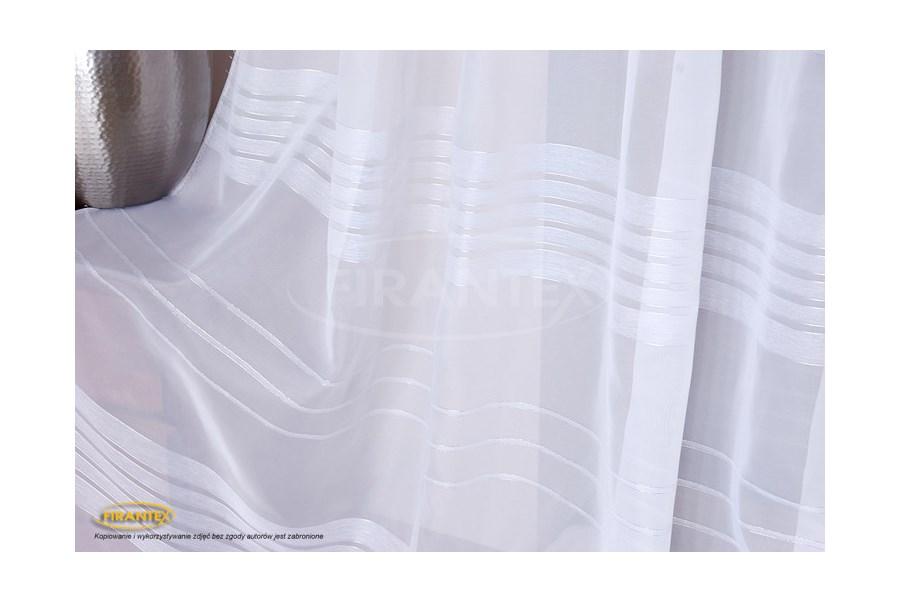 Woal Biały W Pasy 1240 Szerokość 300cm