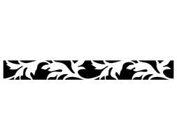Szablon malarski z tworzywa, wielorazowy, wzór border 1