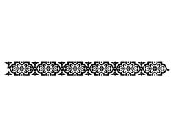 Szablon malarski z tworzywa, wielorazowy, wzór border 2