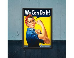 Plakat w stylu vintage Plakat w stylu vintage Plakat We Can Do It