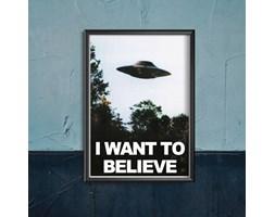 Plakat vintage do salonu Plakat vintage do salonu Science fiction UFO