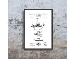 Plakat retro do salonu Plakat retro do salonu Wąsy Curler Burgio Patent USA
