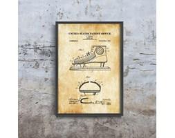 Plakat retro do salonu Plakat retro do salonu Hokej na lodzie Johnson Shoe Patent USA