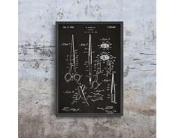 Plakat retro do salonu Plakat retro do salonu Nożyczki patentowe Mirtello