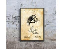 Plakat retro do salonu Plakat retro do salonu Urząd Patentowy Cowboy Patent Horse USA