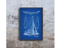 Plakat vintage do salonu Plakat vintage do salonu Patent na żaglówkę Herreshoff