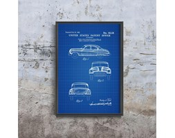 Plakat retro do salonu Plakat retro do salonu General Motors Automobile Patent Earl