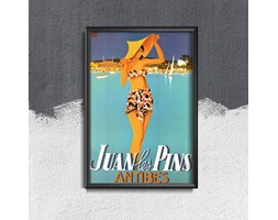 Plakat retro do salonu Plakat retro do salonu Francja Juan Les Pins