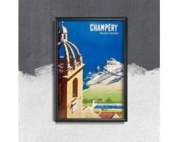 Plakat retro do salonu Plakat retro do salonu Szwajcaria Champery