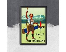 Plakat vintage do salonu Plakat vintage do salonu Niemcy Golf