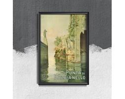 Plakat retro do salonu Plakat retro do salonu Włochy Punta di Balbianello