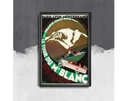 Plakat vintage do salonu Plakat vintage do salonu Mount Blanc