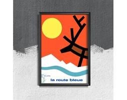Plakat retro do salonu Plakat retro do salonu Lapland La Route Bleue Finlandia