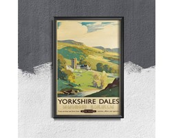 Plakat vintage do salonu Plakat vintage do salonu Yorkshire Dales