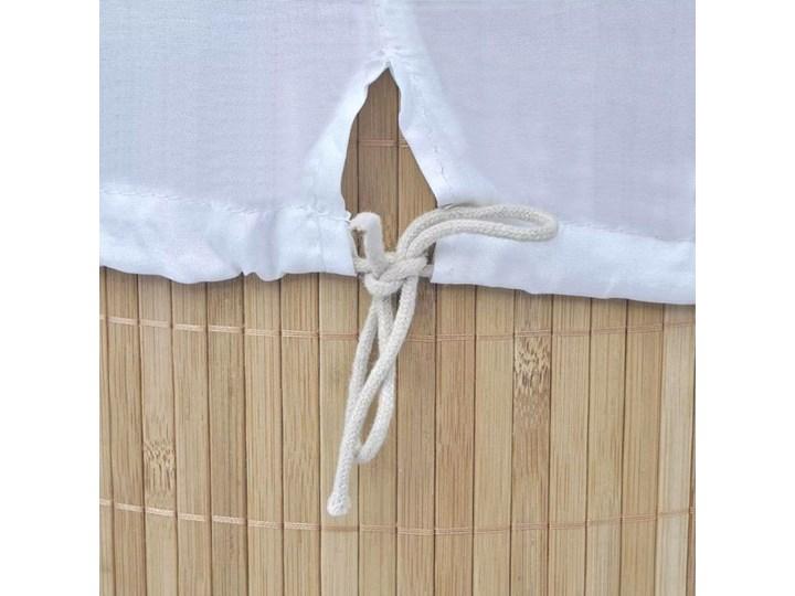 Bambusowy kosz na pranie Lavandi 2X- naturalny Drewno Kategoria Kolor Beżowy