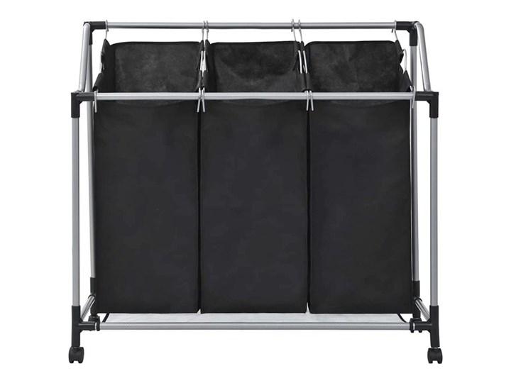 Sortownik na pranie Trinny 2X - czarny Metal Tkanina Kategoria