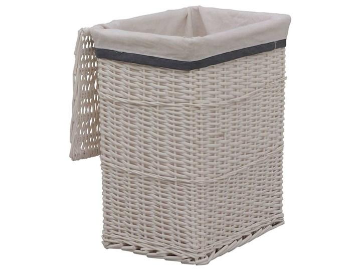 Wiklinowy kosz na pranie Riten - biały Wiklina Kategoria Kolor Szary