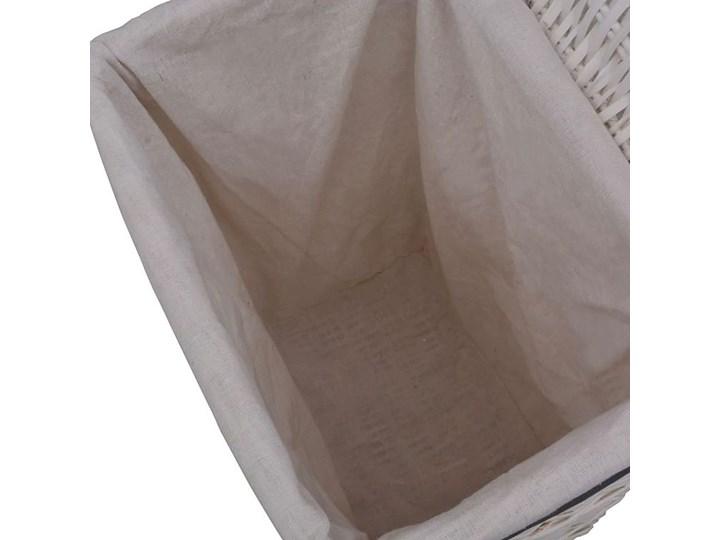 Wiklinowy kosz na pranie Riten - biały Kategoria Wiklina Kolor Szary