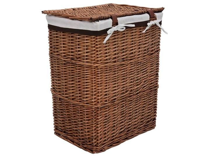 Kosz wiklinowy na pranie Riten - brąz Wiklina Kategoria Kolor Brązowy