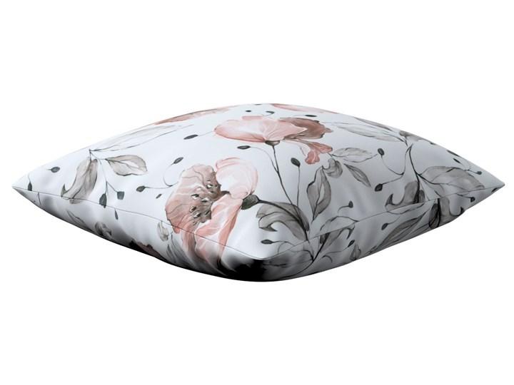 Poszewka Kinga na poduszkę, różowe kwiaty na kremowym tle, 43 × 43 cm, Velvet 43x43 cm 45x45 cm Poliester Poszewka dekoracyjna 45x65 cm 40x60 cm 60x60 cm 50x50 cm Kwadratowe Kolor Biały