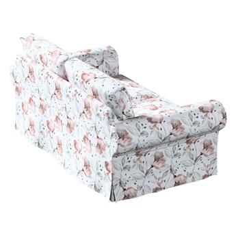 Pokrowiec na sofę Ektorp 2-osobową, nierozkładaną, różowe kwiaty na kremowym tle, 173 x 83 x 73 cm, Velvet