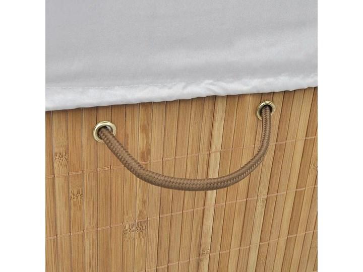 Kosz na pranie z drewna bambusa Lavandi 5X - naturalny Kategoria Drewno Kolor Beżowy