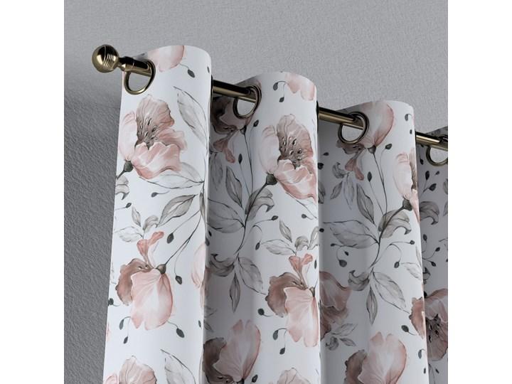 Zasłona na kółkach 1 szt., różowe kwiaty na kremowym tle, 1szt 130 × 260 cm, Velvet Zasłona prześwitująca Kategoria Zasłony Poliester 130x260 cm Mocowanie Taśma