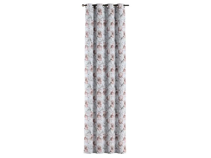 Zasłona na kółkach 1 szt., różowe kwiaty na kremowym tle, 1szt 130 × 260 cm, Velvet 130x260 cm Zasłona prześwitująca Poliester Kategoria Zasłony
