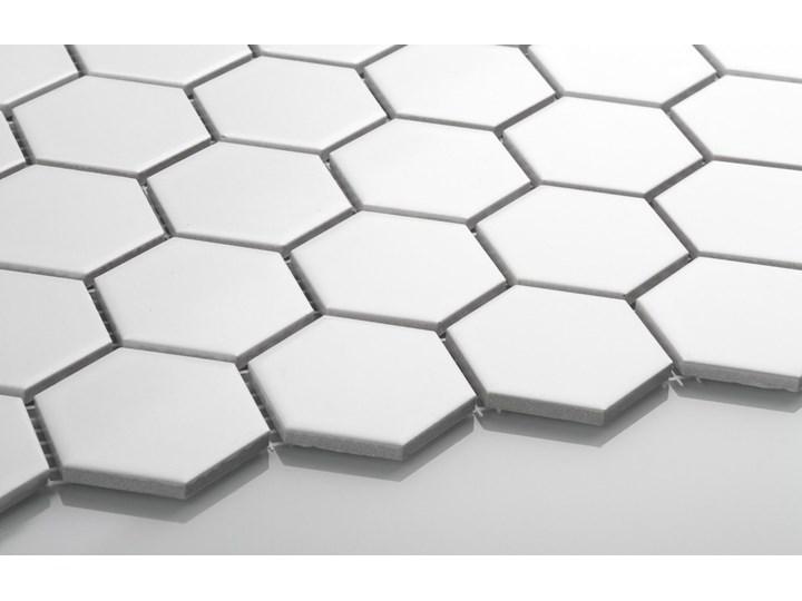 Płytka Heksagon Duży Biały Matowy Mozaika Płytki ścienne Gres Płytki podłogowe Wzór Jednolity