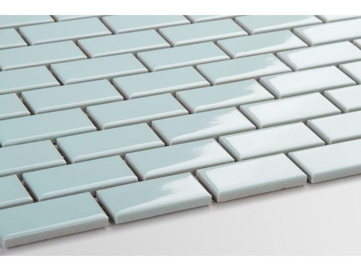 Płytka Mini Cegiełka Błękitna Szkliwiona Mozaika Gres Prostokąt Płytka ceglana Płytki podłogowe Płytki ścienne Powierzchnia Polerowana