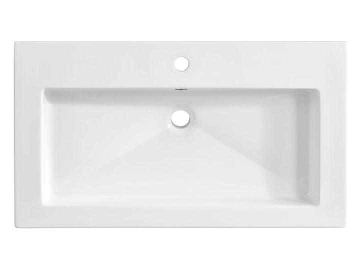 Prostokątna umywalka ceramiczna Vermona 80 CM - Biała Prostokątne Ceramika Kolor Biały Wpuszczane Kategoria Umywalki