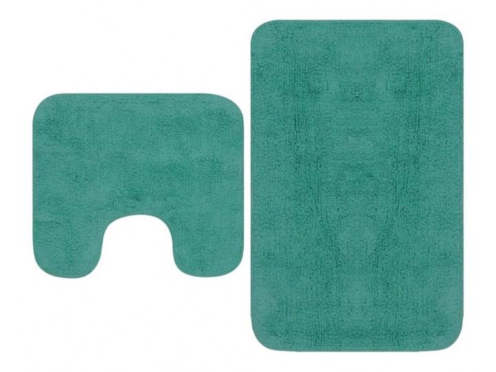 2-częściowy zestaw mat łazienkowych, tkanina, turkus kod: V-133236