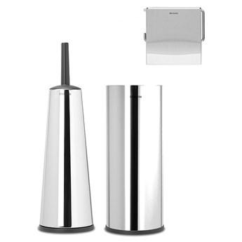 BRABANTIA - ReNew - Zestaw akcesoriów toaletowych - Stal polerowana kod: 28 06 89