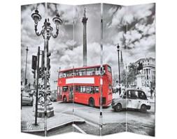 Składany parawan, 200 x 180 cm, londyński autobus, czarno-biały kod: V-245875
