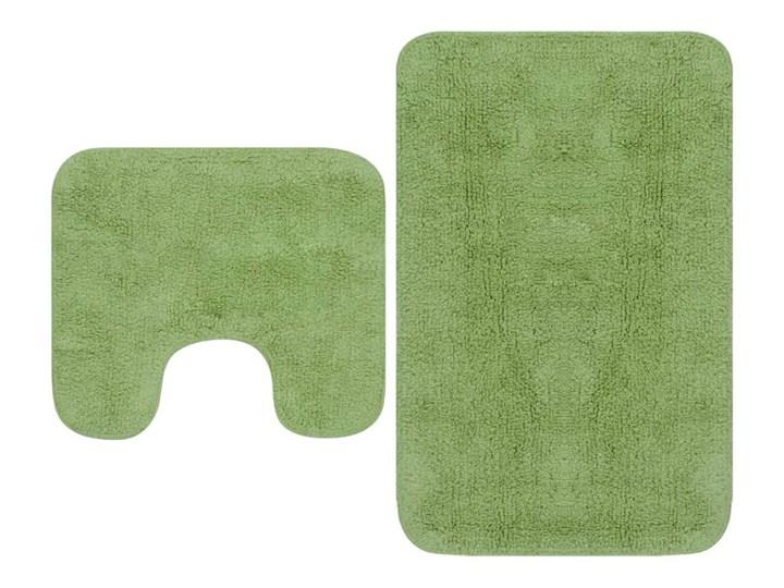 2-częściowy zestaw mat łazienkowych, tkanina, zielony kod: V-133233