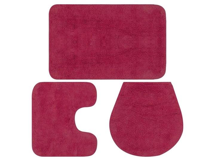 3-częściowy zestaw mat łazienkowych, tkanina, fuksja kod: V-133226